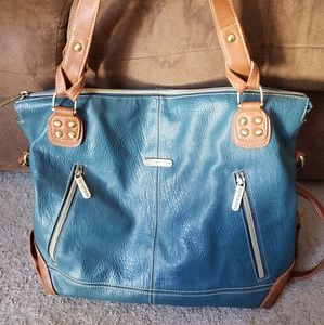 Timi & Leslie Accessories - Timi and Leslie teal Kate Diaper bag
